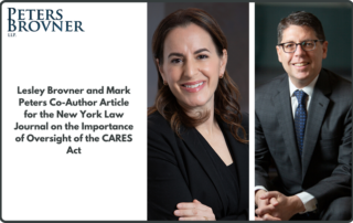 Lesley Brovner and Mark Peters Co-Author Article for the New York Law Journal on the Importance of Oversight of the CARES Act