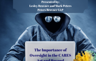 Lesley Brovner and Mark Peters to Present Celesq West LegalEdcenter CLE program on the Importance of Oversight of the CARES Act and Beyond
